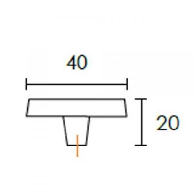 Πομολάκι επίπλων Conset C1041 μαύρο