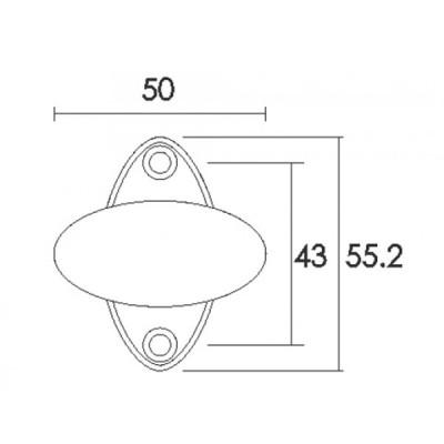 Πόμολο παραθύρου Conset C180 νίκελ ματ