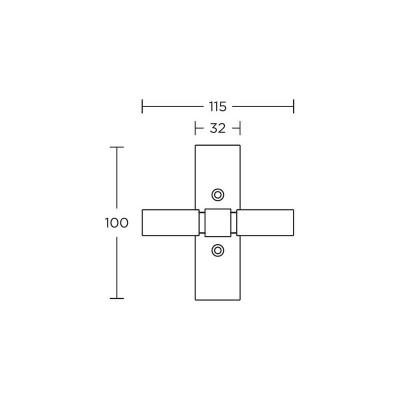 Πόμολο παραθύρου Convex 735 νίκελ ματ/ χρώμιο