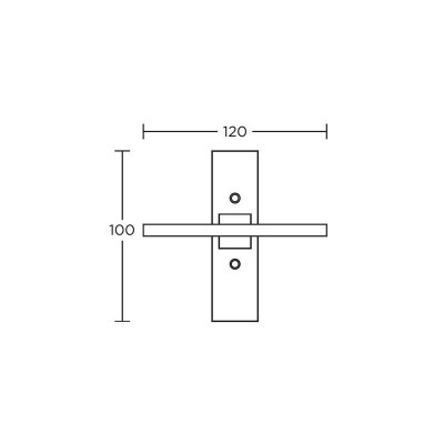 Πόμολο παραθύρου Convex 745 νίκελ ματ/χρώμιο