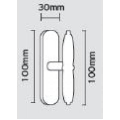 Πόμολο παραθύρου Viometale 08.110 νίκελ ματ/χρώμιο