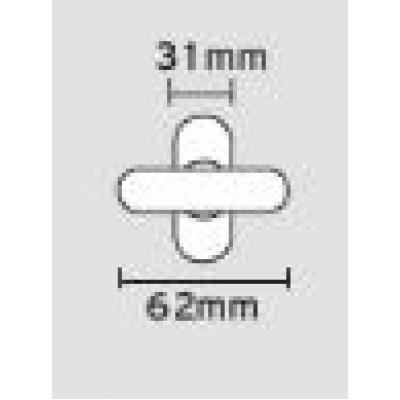 Πόμολο παραθύρου για κούφωμα αλουμινίου Viometale 08.461/59 σε νίκελ ματ