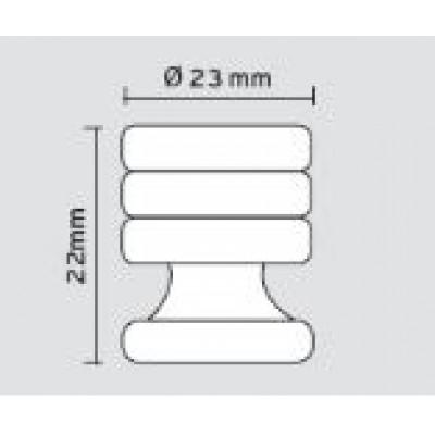 Πομολάκι επίπλων Viometale 01.111 νίκελ ματ