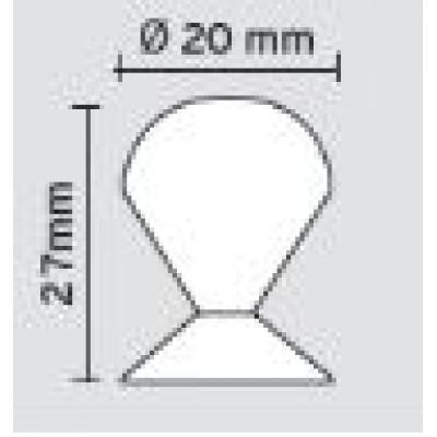 Πομολάκι επίπλων Viometale 01.120 νίκελ ματ