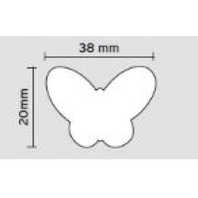 Πομολάκι επίπλων Viometale 01.128 πεταλούδα πράσινη