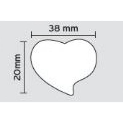 Πομολάκι επίπλων Viometale 01.130 καρδιά πορτοκαλί