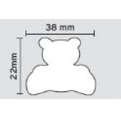 Πομολάκι επίπλων Viometale 01.132 αρκουδάκι γαλάζιο