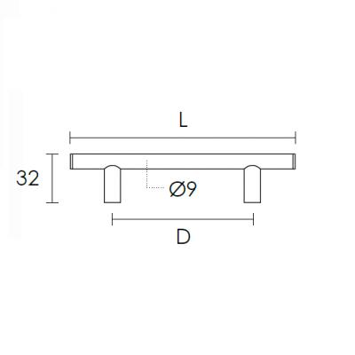 Λαβή επίπλων Conset C851  σε σατεν νίκελ