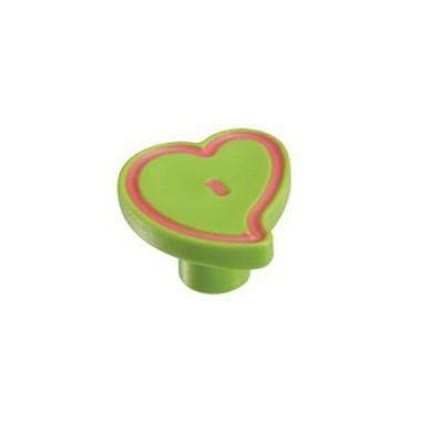 Πομολάκι επίπλων Viometale 01.130 καρδιά πράσινη