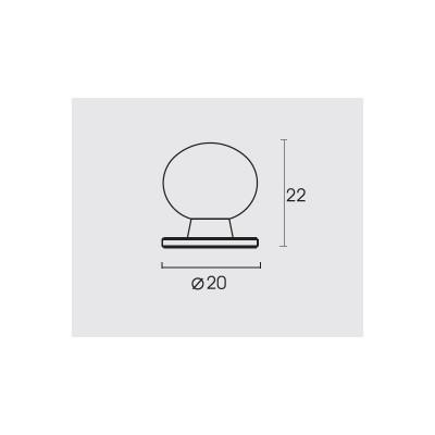 Πομολάκι επίπλων Conset C559 σε σατέν νίκελ ή σατέν χρώμιο