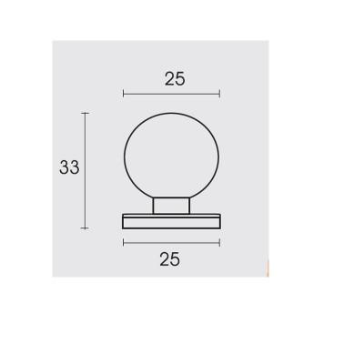 Πομολάκι επίπλων Conset C713 σε νίκελ ματ