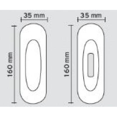 Χούφτα πόρτας Viometale 400 νίκελ ματ