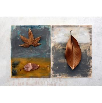 Ταπετσαρία Αφηρημένη Τέχνη - Art 106 Αποξηραμένα φύλλα