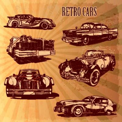 Ταπετσαρία Αυτοκίνητα - Μηχανές 4 Αυτοκίνητα Ρετρό