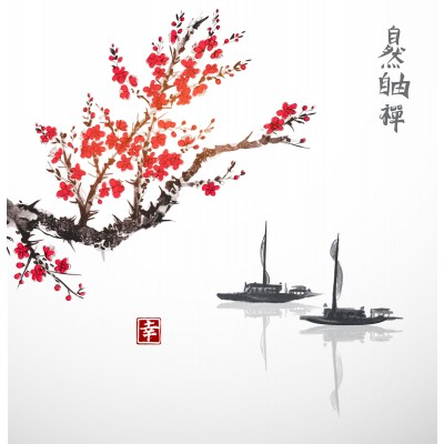 Ρόλερ - Ρολοκουρτίνα Σχέδιο Φενγκ Σουι - Ασία 61