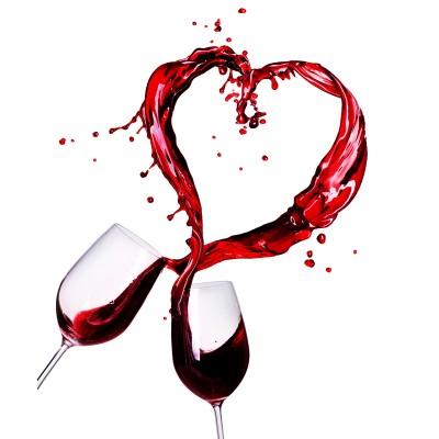 Ρόλερ - Ρολοκουρτίνα Σχέδιο Κουζίνα - Καφές 1 Κρασί- καρδιά