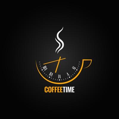 Ρόλερ - Ρολοκουρτίνα Σχέδιο Κουζίνα - Καφές 51 Ρολόι με θέμα τον καφέ