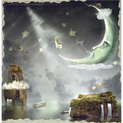 Ρόλερ - Ρολοκουρτίνα Σχέδιο Παιδικό - Εφηβικό23 Ονειρεμένο φεγγάρι