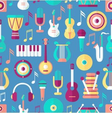 Ρόλερ - Ρολοκουρτίνα Σχέδιο Vintage - Μουσική 101
