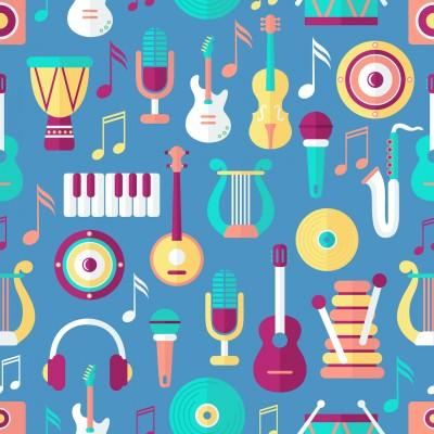 Ταπετσαρία Vintage - Μουσική 101