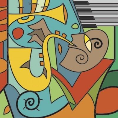 Ρόλερ - Ρολοκουρτίνα Σχέδιο Vintage - Μουσική 102
