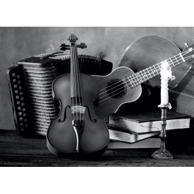 Ρόλερ - Ρολοκουρτίνα Σχέδιο Vintage - Μουσική 107