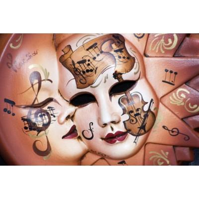 Ταπετσαρία Vintage - Μουσική 17 Μουσικές μάσκες