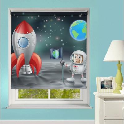 Ρόλερ Ψηφιακής Εκτύπωσης Μερικής Συσκότισης XN0010 Άνθρωπος στο Φεγγάρι