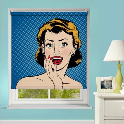 Ρόλερ Μερικής Συσκότισης XN0014 Γυναικείο Πρόσωπο - Pop Art