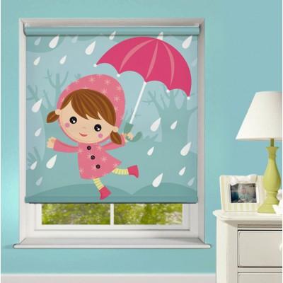 Ρόλερ Μερικής Συσκότισης XN0022 Κοριτσάκι στη Βροχή