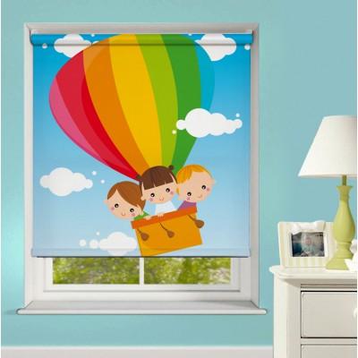 Ρόλερ Μερικής Συσκότισης XN0026 Παιδιά σε Αερόστατο