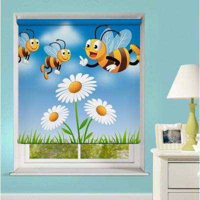 Ρόλερ Μερικής Συσκότισης XN0028 Μέλισσες σε Λουλούδια