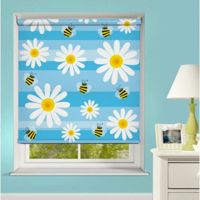 Ρόλερ Μερικής Συσκότισης XN0032 Μέλισσες και Λουλούδια - Μοτίβο