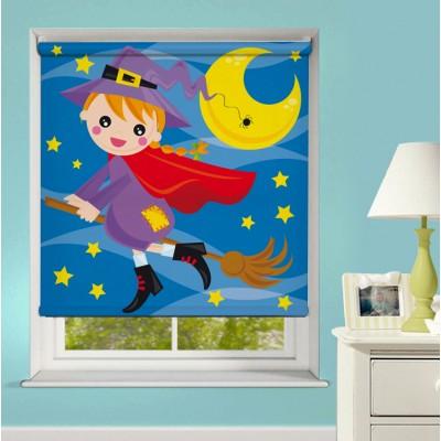 Ρόλερ Ολικής Συσκότισης/Blackout XN0033 Μικρή Μάγισσα και Φεγγάρι