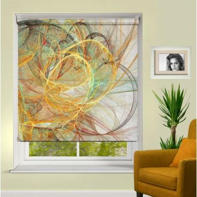 Ρόλερ Μερικής Συσκότισης AB0004 Σχέδιο Abstract-Πολύχρωμες κορδέλες