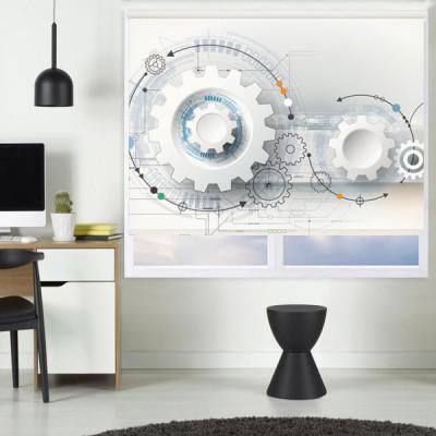 Ρόλερ - Ρολοκουρτίνα Σχέδιο Οικονομία - Τεχνολογία 1 Γρανάζια