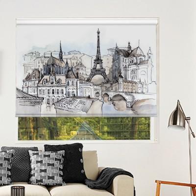 Ρόλερ Μερικής Συσκότισης CI0017 Πόλη- Παρίσι Πύργος του Άιφελ, ζωγραφική