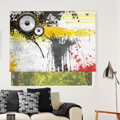 Ρόλερ Ολικής Συσκότισης/Blackout GR0005 Graffiti-Χρωματιστές πινελιές