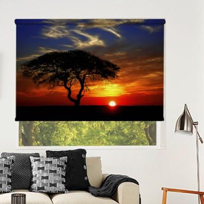 Ρόλερ Μερικής Συσκότισης NA0033 Φύση-Ηλιοβασίλεμα στην Αφρική