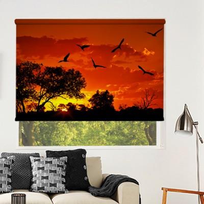 Ρόλερ Μερικής Συσκότισης NA0034 Φύση-Ηλιοβασίλεμα στην φύση