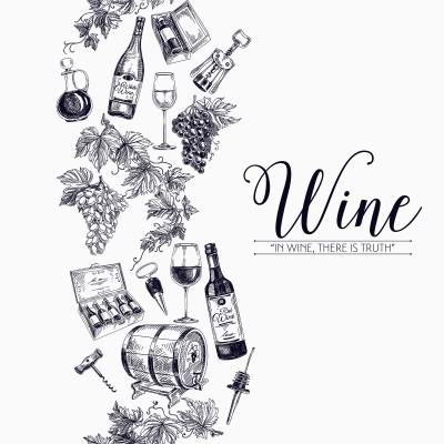 Ρόλερ Μερικής Συσκότισης K41 Kitchen-Κουζίνα Γκραβούρα με θέμα το κρασί