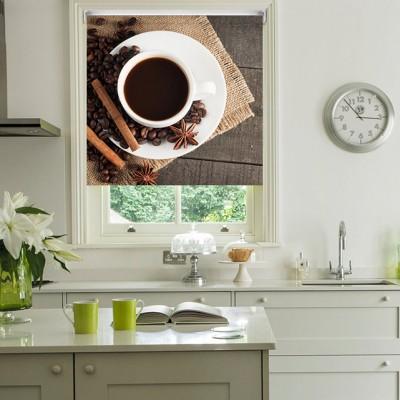 Ρόλερ Ολικής Συσκότισης/Blackout K04 Kitchen-Κουζίνα Άρωμα Καφέ