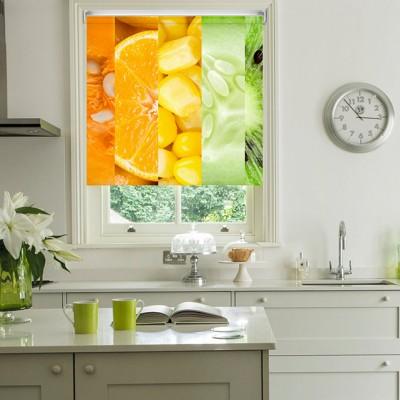 Ρόλερ Ολικής Συσκότισης/Blackout K02 Kitchen-Κουζίνα Φρούτα