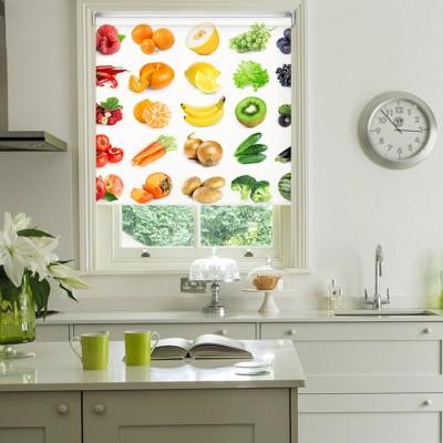 Ρόλερ Ολικής Συσκότισης/Blackout K03 Kitchen-Κουζίνα Φρούτα Λαχανικά