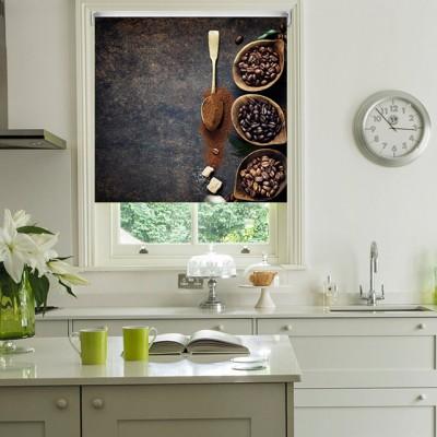 Ρόλερ Ολικής Συσκότισης/Blackout K06 Kitchen-Κουζίνα Κόκκοι Καφέ