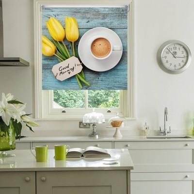 Ρόλερ Μερικής Συσκότισης K15 Kitchen-Κουζίνα Κούπα Καφέ