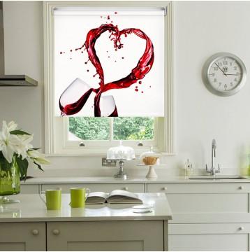Ρόλερ Ολικής Συσκότισης/Blackout K25 Kitchen-Κουζίνα Κρασί Καρδιά