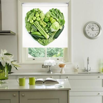 Ρόλερ Ολικής Συσκότισης/Blackout K10 Kitchen-Κουζίνα Λαχανικά Καρδιά