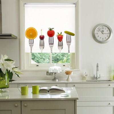 Ρόλερ Ολικής Συσκότισης/Blackout K26 Kitchen-Κουζίνα Πιρούνια Φρούτα