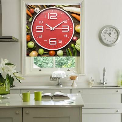 Ρόλερ Ολικής Συσκότισης/Blackout K08 Kitchen-Κουζίνα Ρολόι